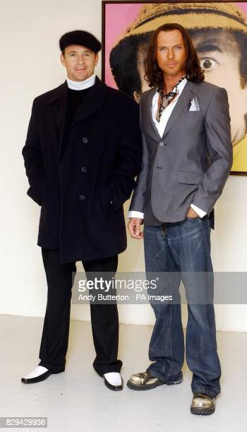 Actors Jason Connery and Luke Goss during a photocall for their new film Private Moments held at the Apart Gallery west London