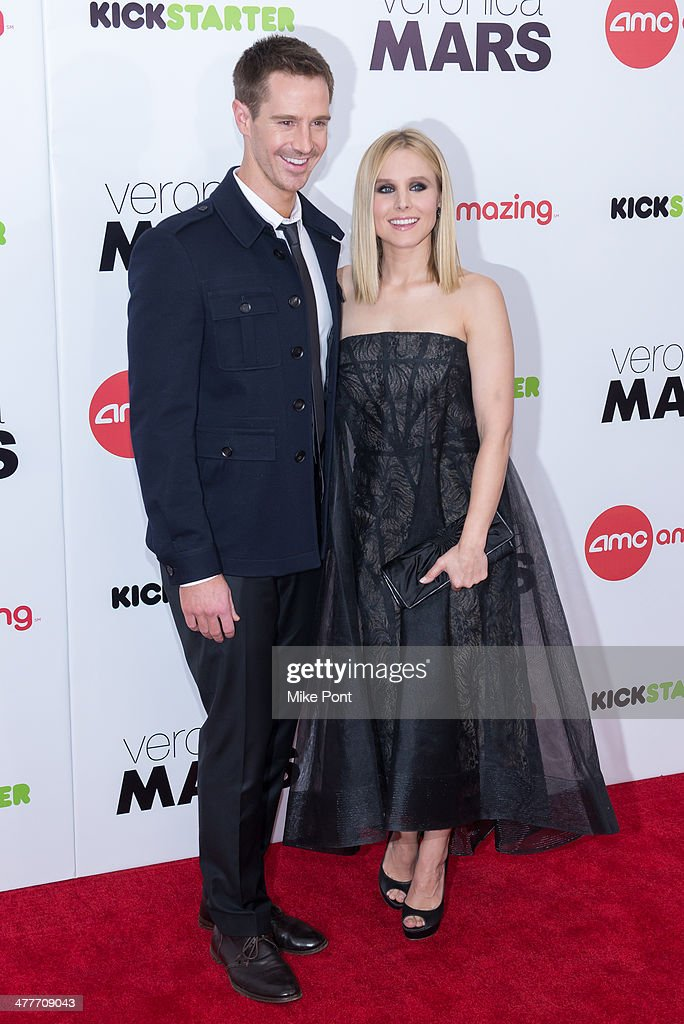 Actors Jason Dohring and Kristen Bell attend the 'Veronica Mars' screening at AMC Loews Lincoln Square on March 10, 2014 in New York City.
