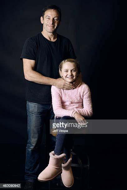 Actors Jason Isaacs and Avery Phillips from 'Stockholm Pennsylvania' pose for a portrait at the Village at the Lift Presented by McDonald's McCafe...