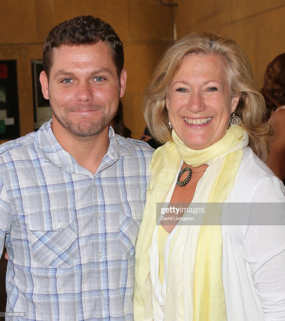 Actors Jason James Richter (L) and <a gi-track='captionPersonalityLinkClicked' href=/galleries/search?phrase=Jayne+Atkinson&family=editorial&specificpeople=2346441 ng-click='$event.stopPropagation()'>Jayne Atkinson</a> attend the 'Free Willy' 20th Anniversary Celebration at the Egyptian Theatre on August 17, 2013 in Hollywood, California.