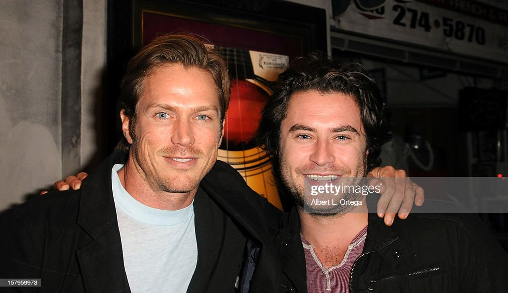 Actors <a gi-track='captionPersonalityLinkClicked' href=/galleries/search?phrase=Jason+Lewis&family=editorial&specificpeople=203274 ng-click='$event.stopPropagation()'>Jason Lewis</a> and Kevin Ryan arrives for the Screening Of 'Bad Kids Go To Hell' held at Laemmle Music Hall Theater on December 7, 2012 in Beverly Hills, California.