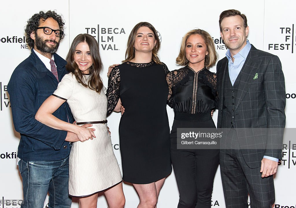 Actors Jason Mantzoukas, Alison Brie director Leslye Headland, actors Margarita Levieva and Jason Sudeikis attend the 2015 Tribeca Film Festival New York Premiere 'Sleeping With Other People' at BMCC Tribeca PAC on April 21, 2015 in New York City.