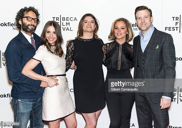Actors Jason Mantzoukas Alison Brie director Leslye Headland actors Margarita Levieva and Jason Sudeikis attend the 2015 Tribeca Film Festival New...