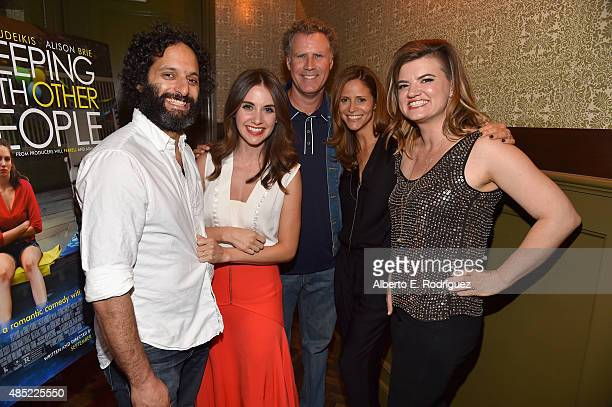 Actors Jason Mantzoukas Alison Brie producer Will Ferrell actress Andrea Savage and writer/director Leslye Headland attend a Tastemaker Screening of...