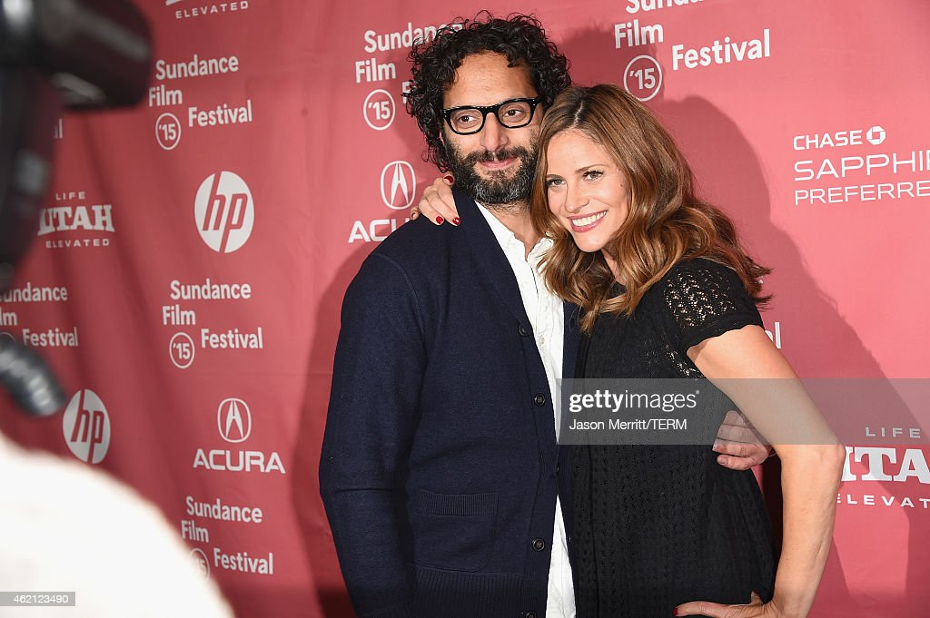 Actors Jason Mantzoukas (L) and Andrea Savage attends the 'Sleeping With Other People' premiere during the 2015 Sundance Film Festival on January 24, 2015 in Park City, Utah.