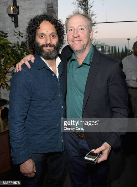"Actors Jason Mantzoukas and Matt Walsh celebrate the launch of truTV's new scripted comedy ""I'm Sorry"" at Catch LA on June 13 2017 in Los Angeles..."
