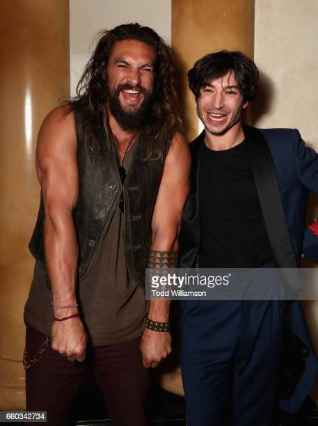 "Actors Jason Momoa and Ezra Miller at CinemaCon 2017 Warner Bros Pictures Invites You to ""The Big Picture"" an Exclusive Presentation of our Upcoming..."