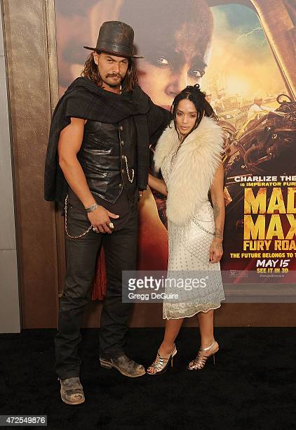 Actors Jason Momoa and Lisa Bonet arrive at the Los Angeles premiere of 'Mad Max Fury Road' at TCL Chinese Theatre IMAX on May 7 2015 in Hollywood...