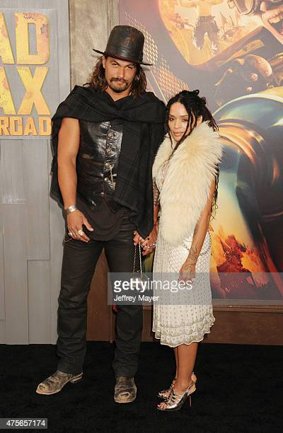 Actors Jason Momoa and Lisa Bonet arrive at the 'Mad Max Fury Road' Los Angeles Premiere at TCL Chinese Theatre IMAX on May 7 2015 in Hollywood...