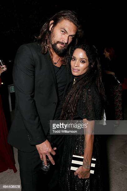Actors Jason Momoa and Lisa Bonet attends the InStyle Awards at Getty Center on October 26 2015 in Los Angeles California