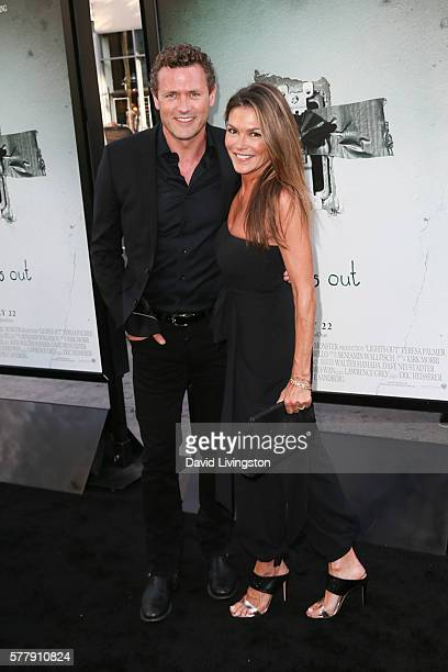 Actors Jason O'Mara and Paige Turco arrive at the premiere of New Line Cinema's 'Lights Out' at the TCL Chinese Theatre on July 19 2016 in Hollywood...