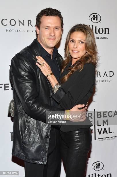 Actors Jason O'Mara and Paige Turco attend the TFF Awards Night during the 2013 Tribeca Film Festival on April 25 2013 in New York City
