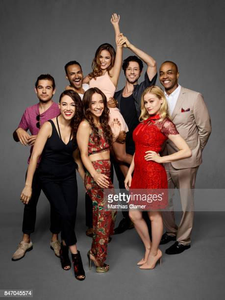 Actors Jason Ralph Arjun Gupta Summer Bishil Hale Appleman Rick Worthy Olivia Taylor Dudley Stella Maeve and Jade Tailor from 'The Magicians' are...