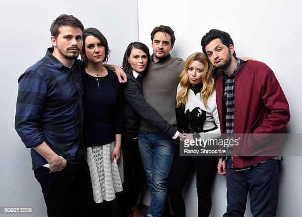 Actors Jason Ritter and Melanie Lynskey writer/director/actress Clea DuVall and actors Vincent Piazza Natasha Lyonne and Ben Schwartz from the film...