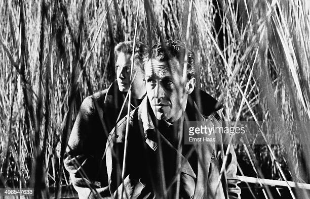 Actors Jason Robards and Deborah Kerr star in the film 'The Journey' 1959