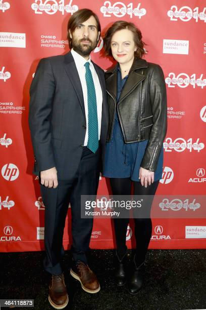 Actors Jason Schwartzman and Elisabeth Moss attend the 'Listen Up Philip' Premiere during the 2014 Sundance Film Festival at Library Center Theater...