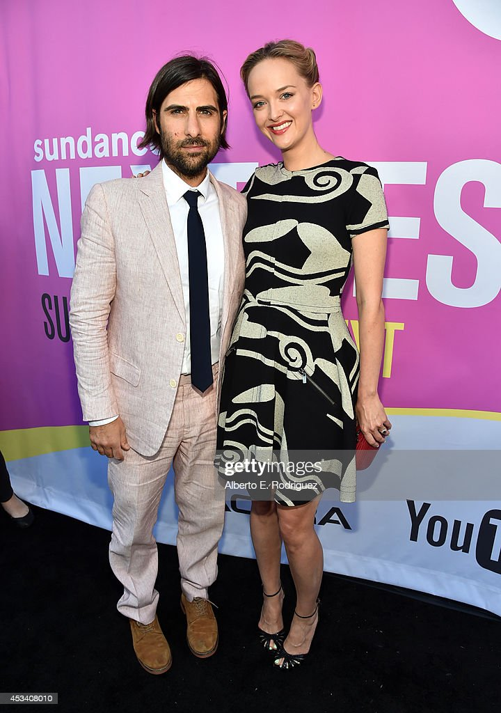 Actors Jason Schwartzman and Jess Weixler (R) attend the screening of 'Listen Up Philip' during Sundance NEXT FEST at The Theatre at Ace Hotel on August 9, 2014 in Los Angeles, California.