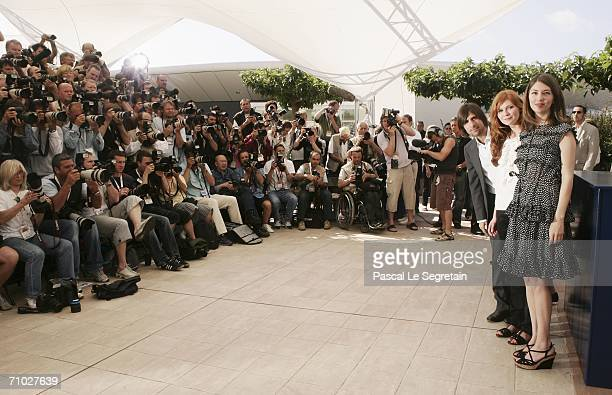 Actors Jason Schwartzman and Kirsten Dunst and director Sofia Coppola attend a photocall promoting the film 'Marie Antoinette' at the Palais des...