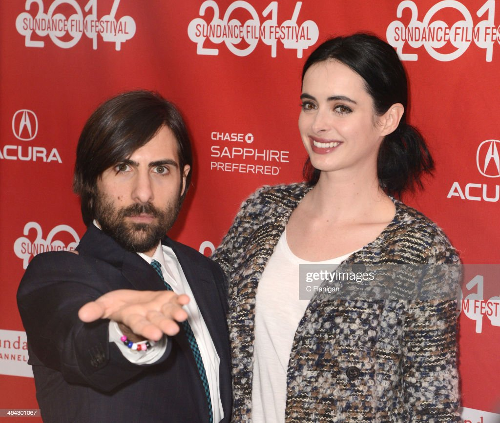 Actors <a gi-track='captionPersonalityLinkClicked' href=/galleries/search?phrase=Jason+Schwartzman&family=editorial&specificpeople=216351 ng-click='$event.stopPropagation()'>Jason Schwartzman</a> (L) and <a gi-track='captionPersonalityLinkClicked' href=/galleries/search?phrase=Krysten+Ritter&family=editorial&specificpeople=655673 ng-click='$event.stopPropagation()'>Krysten Ritter</a> attend the 'Listen Up Philip' premiere during the 2014 Sundance Film Festival at Library Center Theater on January 20, 2014 in Park City, Utah.