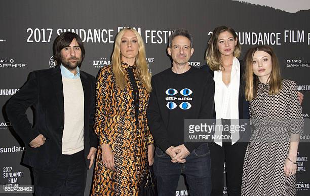 Actors Jason Schwartzman Chloe Sevigny Adam Horovitz Analeigh Tipton and Emily Browning and attend 'Golden Exits' Premiere at Library Center Theatre...