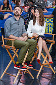 Actors Jason Sudeikis and Alison Brie tape an interview at 'Good Morning America' at the ABC Times Square Studios on September 8 2015 in New York City