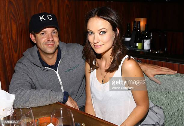 Actors Jason Sudeikis and Olivia Wilde attend Glamour Presents 'These Girls' at Joe's Pub on October 8 2012 in New York City