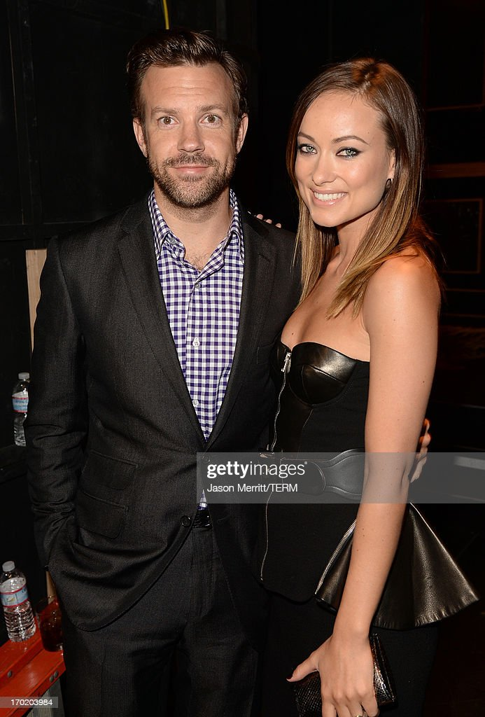 Actors Jason Sudeikis (L)and Olivia Wilde attend Spike TV's Guys Choice 2013 at Sony Pictures Studios on June 8, 2013 in Culver City, California.