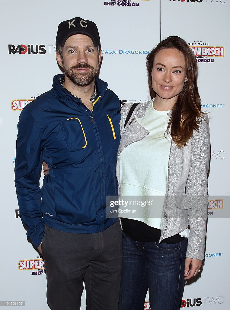 Actors Jason Sudeikis and Olivia Wilde attend the New York premiere of 'The Legend Of Shep Gordon' at The Museum of Modern Art on May 29, 2014 in New York City.