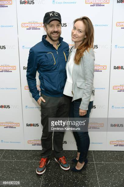 Actors Jason Sudeikis and Olivia Wilde attend the ''Supermensch The Legend Of Shep Gordon' screening at The Museum of Modern Art on May 29 2014 in...