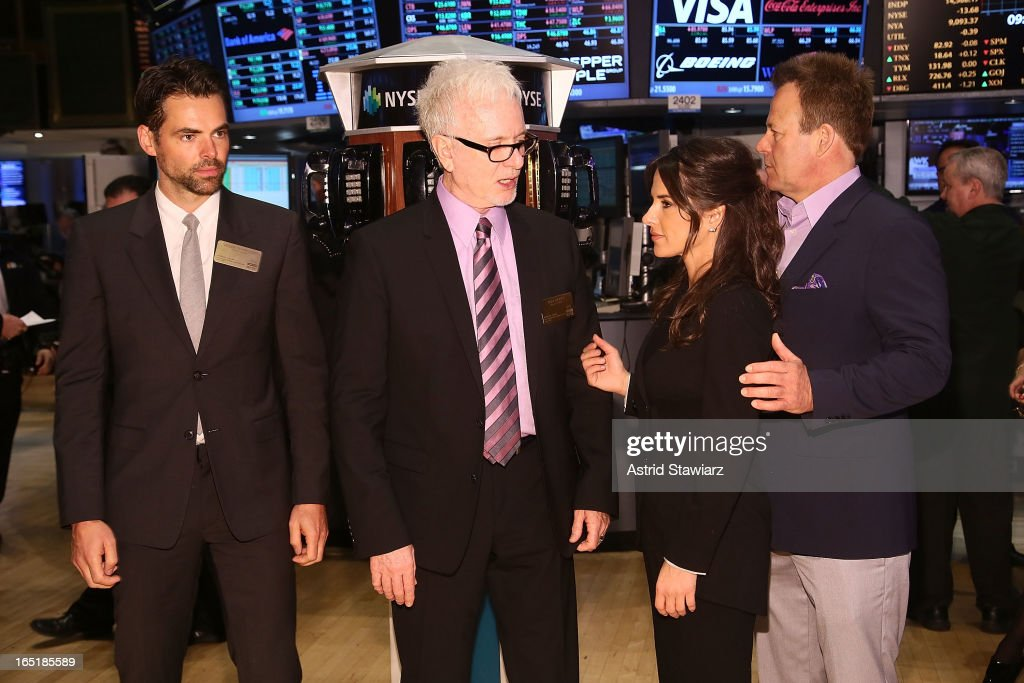 Actors Jason Thompson, Tony Geary, Kelly Monaco and Kin Shriner of ABCÕs soap opera General Hospital ring the opening bell at the New York Stock Exchange on April 1, 2013 in New York City.