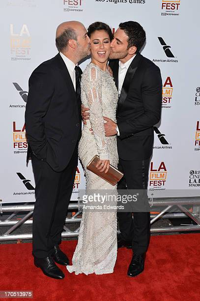 Actors Javier Camara Blanca Suarez and Miguel Angel Silvestre arrive at the 2013 Los Angeles Film Festival Opening Night Gala Premiere of 'I'm So...
