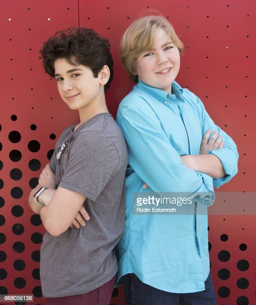 Actors Jax Malcolm and Connor Dean pose for portrait at The Artists Project on April 12 2017 in Los Angeles California