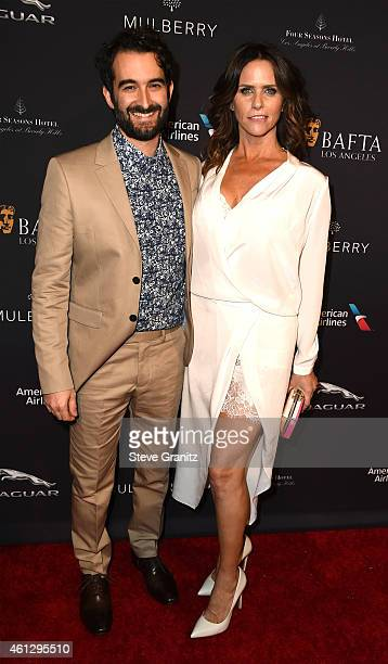 Actors Jay Duplass and actress Amy Landecker attend the 2015 BAFTA Tea Party at The Four Seasons Hotel on January 10 2015 in Beverly Hills California