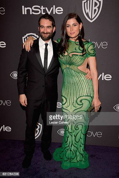 Actors Jay Duplass and Trace Lysette attend the 18th Annual PostGolden Globes Party hosted by Warner Bros Pictures and InStyle at The Beverly Hilton...