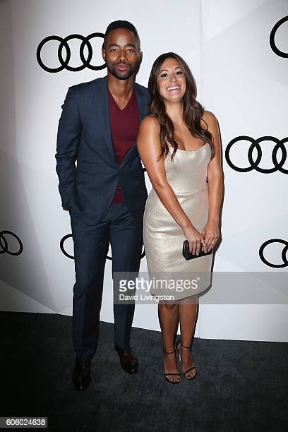 Actors Jay Ellis and Angelique Cabral arrive at Audi Celebrates The 68th Emmys at Catch on September 15 2016 in West Hollywood California