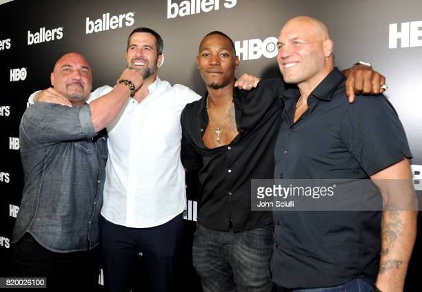 Actors Jay Glazer Troy Garity Kris D Lofton and Randy Couture attend HBO's 'Ballers' Season 3 PopUp Experience on July 20 2017 in Los Angeles...