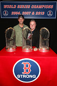 Actors Jay Harrington and Jack McGee attend a Red Sox charity event to benefit The Jimmy Fund Children's Hospital LA's Cancer Researchers G1VE A BUCK...