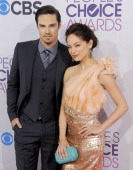Actors Jay Ryan and Kristin Kreuk arrive at the 2013 People's Choice Awards at Nokia Theatre LA Live on January 9 2013 in Los Angeles California