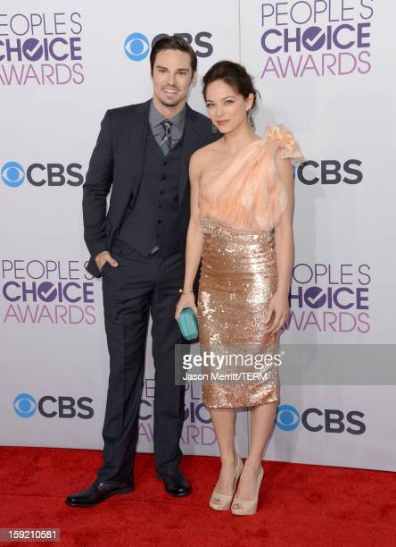 Actors Jay Ryan and Kristin Kreuk attend the 39th Annual People's Choice Awards at Nokia Theatre LA Live on January 9 2013 in Los Angeles California