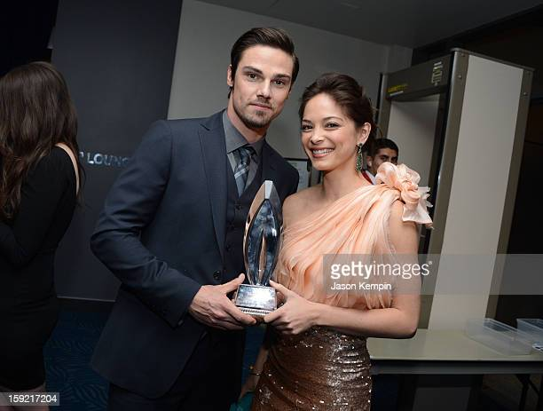 Actors Jay Ryan and Kristin Kreuk backstage at the 39th Annual People's Choice Awards at Nokia Theatre LA Live on January 9 2013 in Los Angeles...