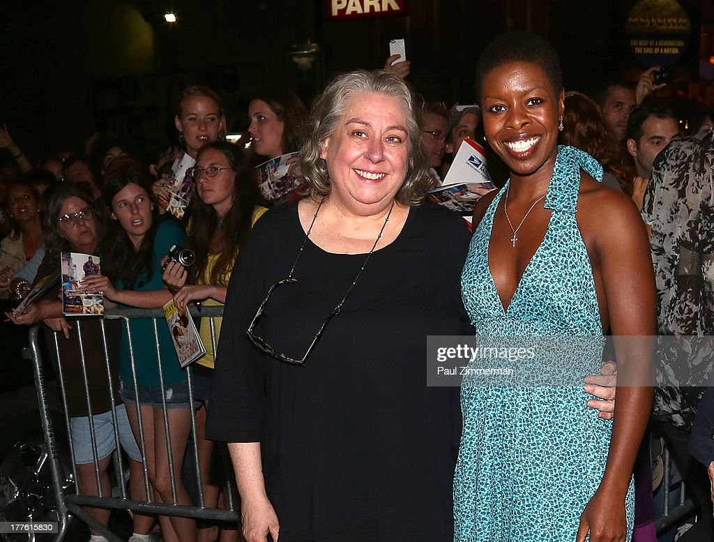 Actors Jayne Houdyshell and Roslyn Ruff attend the 'Romeo And Juliet' On Broadway First Performance at the Richard Rodgers Theatre on August 24, 2013 in New York City.