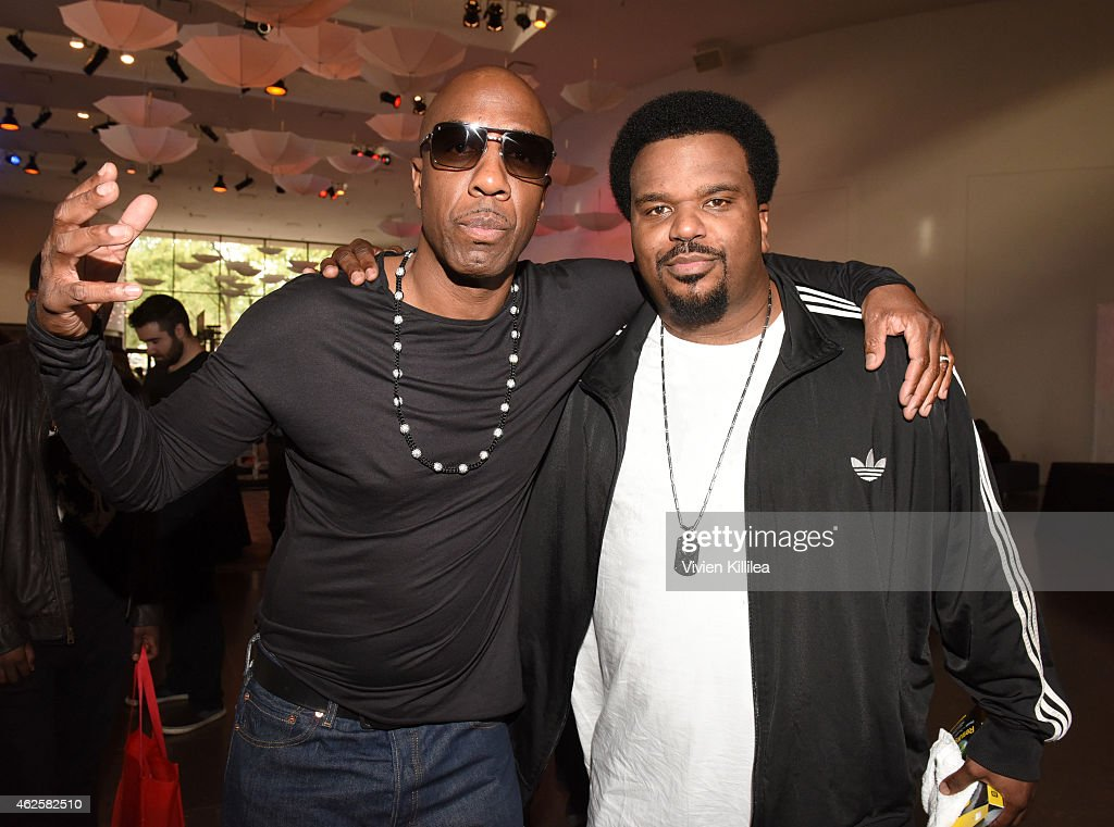 Actors JB Smoove and Craig Robinson attend the Kia Luxury Lounge presented by ZIRH at the Scottsdale Center for Performing Arts on January 31 2015 in...