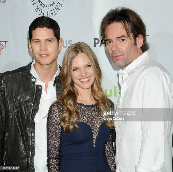 Actors JD Pardo Tracy Spiridakos and Billy Burke arrive at the 30th Annual PaleyFest The William S Paley Television Festival featuring 'Revolution'...