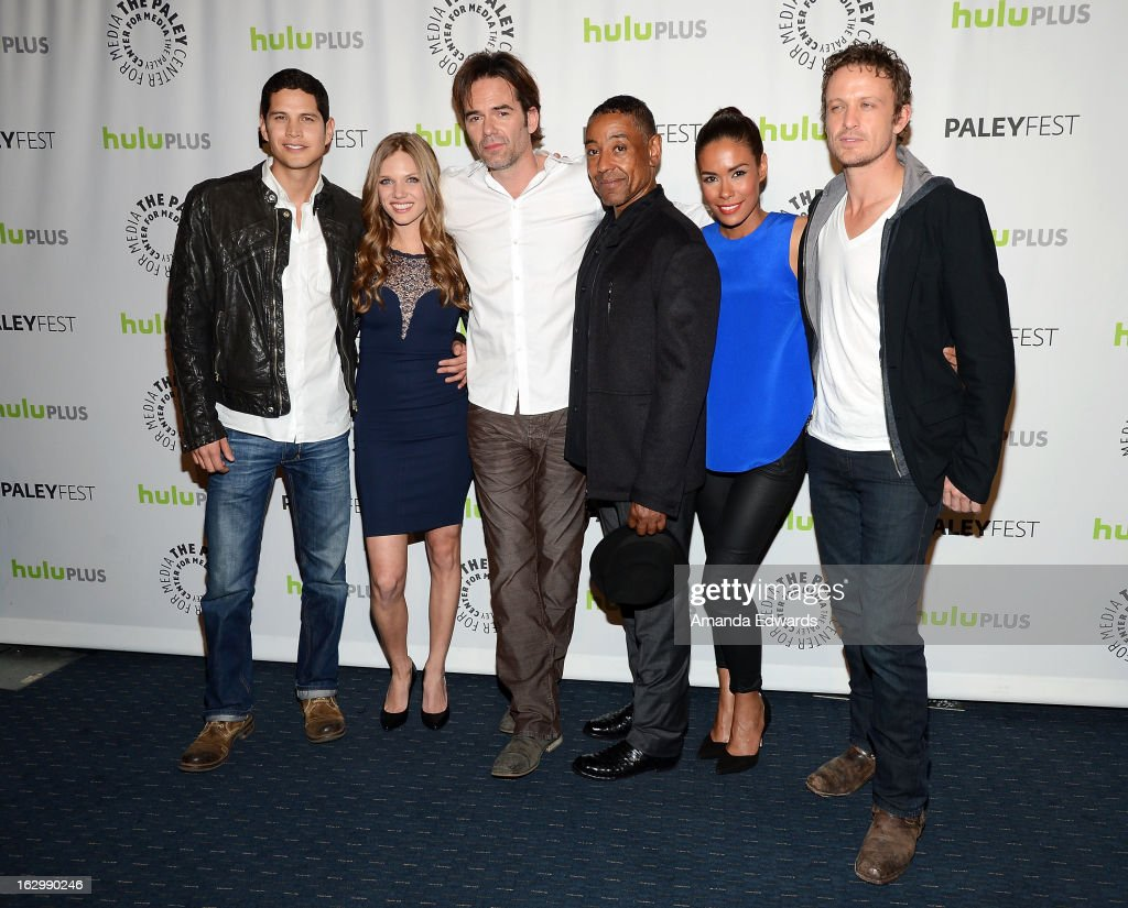 Actors J.D. Pardo, Tracy Spiridakos, Billy Burke, Giancarlo Esposito, Daniella Alonso and David Lyons arrive at the 30th Annual PaleyFest: The William S. Paley Television Festival featuring 'Revolution' at Saban Theatre on March 2, 2013 in Beverly Hills, California.