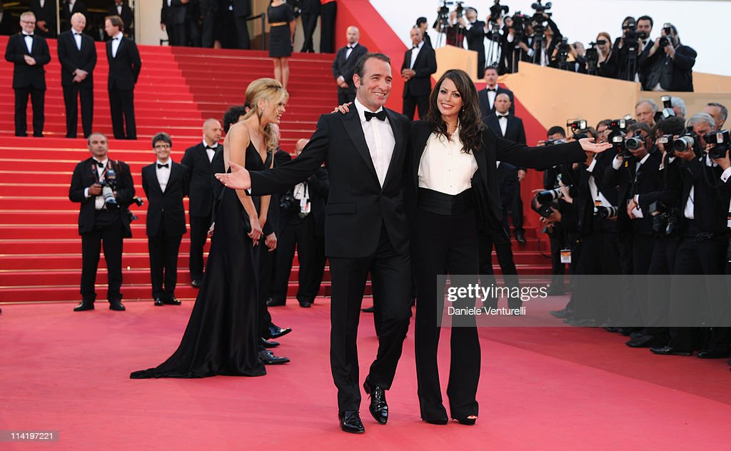 Actors Jean Dujardin and Berenice Bejo attend 'The Artist' Premiere at the Palais des Festivals during the 64th Cannes Film Festival on May 15, 2011 in Cannes, France.