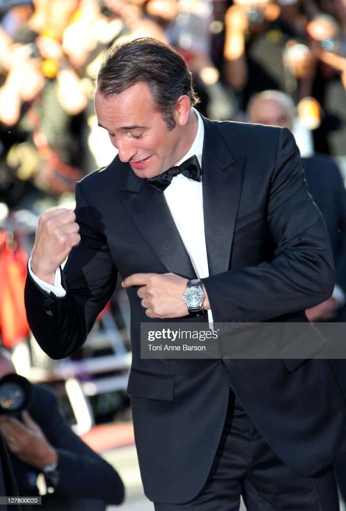 Actors <a gi-track='captionPersonalityLinkClicked' href=/galleries/search?phrase=Jean+Dujardin&family=editorial&specificpeople=620972 ng-click='$event.stopPropagation()'>Jean Dujardin</a> attend 'The Artist' Premiere at the Palais des Festivals during the 64th Cannes Film Festival on May 15, 2011 in Cannes, France.