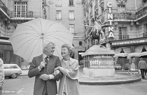 Actors Jean Marais and Edwige Feuillere go for a stroll in Paris before an upcoming production of their latest play Dear Liar The play going under...