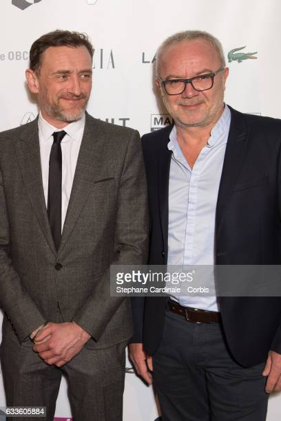 Actors Jean Paul Rouve and Olivier Baroux attend the 'Trophees Du Film Francais' 24th Ceremony at Palais Brongniart on February 2 2017 in Paris France