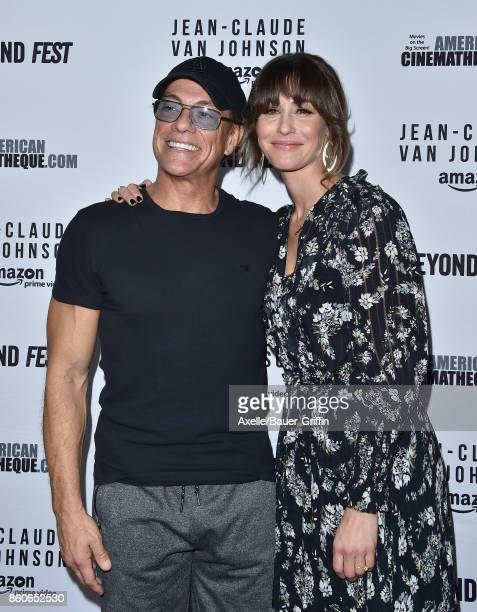 Actors JeanClaude Van Damme and Kat Foster arrive at the Beyond Fest screening of Amazon's 'JeanClaude Van Johnson' at The Egyptian Theatre on...