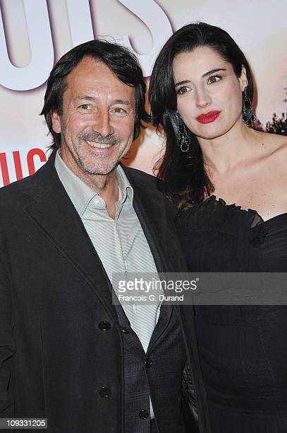 Actors JeanHugues Anglade and Luisa Ranieri attend 'Le Marquis' Paris premiere on February 21 2011 in Paris France